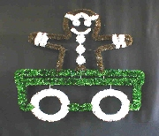 Train Car with Gingerbread Man